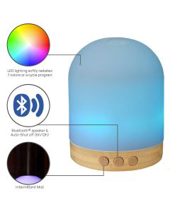 Aromatherapy Diffuser with Bluetooth Speaker