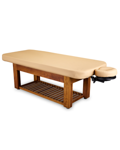 Napa La Mer™ Spa and Salon Table with Teak Base